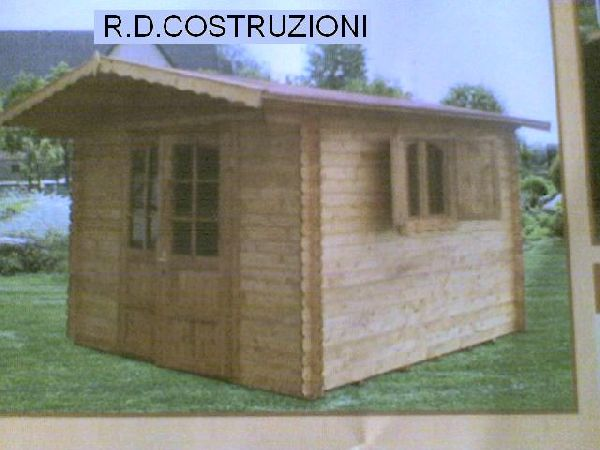 R d costruzioni produzione e montaggio case in legno for Casetta legno 3x3