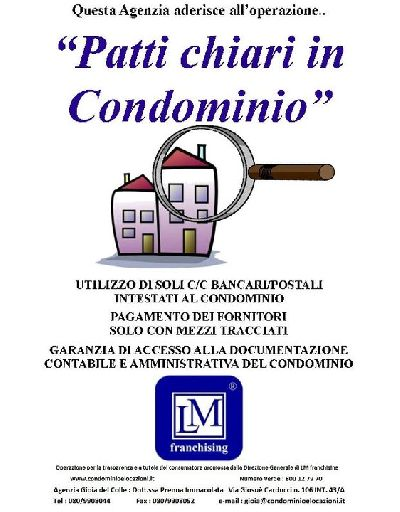 Patti chiari in Condominio