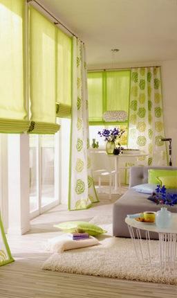 Show room righi sas tendaggi su misura tende tessuti - Tende da sala da pranzo ...