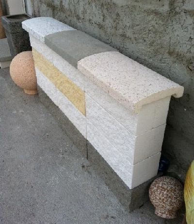 Blocchi in cemento colorati